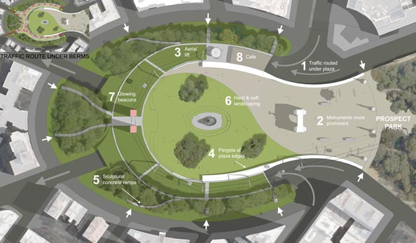 Redesign of Grand army Plaza, Brooklyn, New York